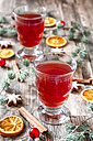 Glasses of mulled wine at Christmas time - SARF002330