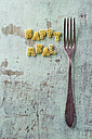 Pasta letters and a fork - MYF001242