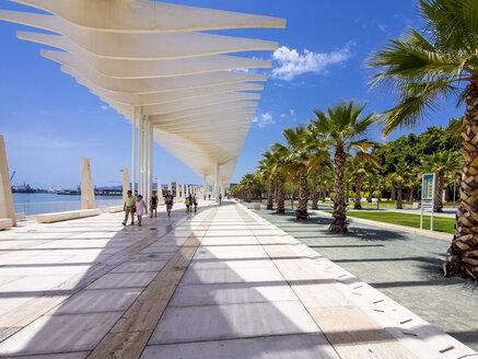 Spain, Malaga, El Palmeral de las Sorpresas, promenade at harbour - AM004467