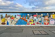 Germany, Berlin, Berlin Wall, East Side Gallery, mural painting - RJ000546