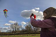 Young girl with kite - SARF002346