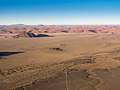 Africa, Namibia, Kulala Wilderness Reserve, Tsaris Mountains, Sossusvlei, Region Hardap, Namib desert at sunrise - AMF004474
