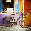 Italy, Venice, Burano, bicycle at house - MEMF000924