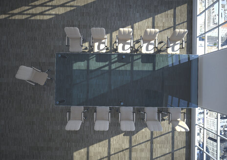 Empty conference room seen from above, 3D Rendering - ALF000659