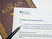 Koran and German document for naturalization - AM004521
