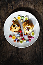 Chocolate muffins with candies on plate - EVGF002529