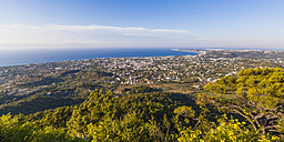 Greece, Dodecanese, Rhodes, View from Filerimos mountain over north-west coast - WDF003461