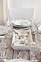 Maritime laid table with wine glasses - LVF004296