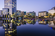 Germany, Cologne, Media park in the evening - WG000786