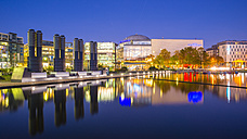 Germany, Cologne, Media park in the evening - WG000789