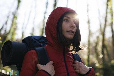 Spain, Catalunya, Girona, female hiker in the nature - EBSF001194