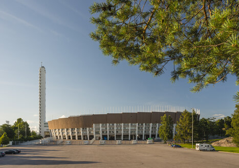 Finland, Helsinki, view to Olympic stadium - JB000271