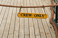 Sign on sailing ship, crew only - SJF000161