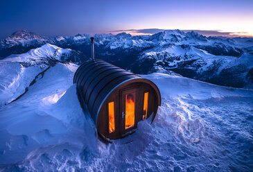 Italy, South Tyrol, Dolomites, sauna at Lagazuoi - STCF000117