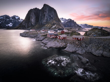 Norway, Lofoten, Hamnoy in the evening - STCF000120