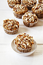 Whole meal apple muffins with almond slices - EVGF002573