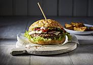 Cheeseburger and potato wedges - KSWF001721