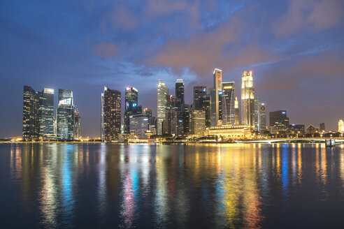 Singapore, Skyline in the evening - PCF000225
