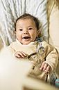 Portrait of smiling baby boy - JASF000330