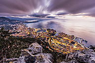 Monaco, View of Monte Carlo, dramatic evening sky - DAWF000417
