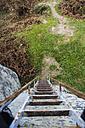 Spain, Alfoz de Bricia, Presillas, stairs at hermitage Ermita de San Miguel - SKCF000035