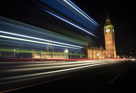 UK, London, Big Ben at night - STCF000129