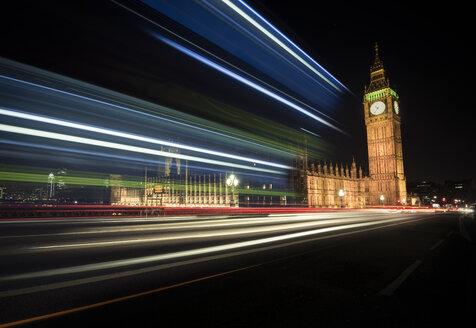 UK, London, Big Ben at night - STCF000129
