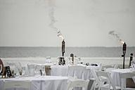 USA, Florida, Bonita Springs, Lovers Key, preparations for a wedding on beach - CHPF000178