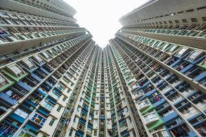 China, Hong Kong, Kowloon apartement buildings - HSIF000391