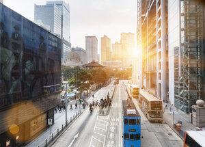 China, Hong Kong, Traffic in Central Hong Kong - HSI000406