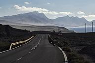 Spain, Canary Islands, Fuerteventura, La Pared, Coast road - FMKF002228