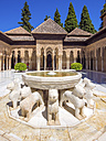 Spain, Andalusia, Granada, Alhambra, Patio de los Leones - AM004632