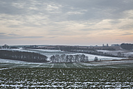 Germany, Mecklenburg-Western Pomerania, Ruegen, Fields in winter - ASCF000454