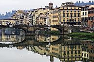 Italy, Tuscany, Florence, Arno River and Ponte Santa Trinita - THAF001549
