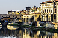 Italy, Tuscany, Florence, Arno River and Ponte Vecchio - THAF001555