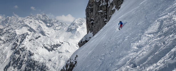 France, Les Contamines, ski mountaineering, downhill - ALRF000309