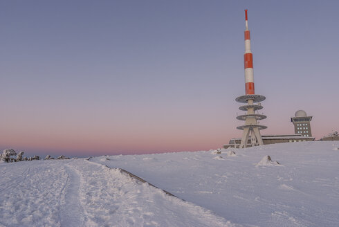 Germany, Saxony-Anhalt, Harz National Park, Brocken Plateau in the evening - PVCF000747