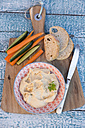 Hummus, chick peas, carrots, cucumber, baguette - SARF002446