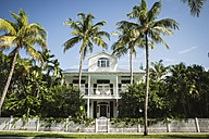 USA, Florida, Key West, house with palm trees - CHPF000204