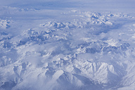 Italy, Alps, Aerial view of the mountains in winter - LOMF000181