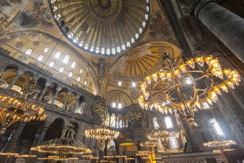 Turkey, Istanbul, indoor view Hagia Sophia - MDI000016