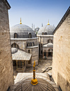 Turkey, Istanbul, view to Haghia Sophia and Sultan Ahmed Mosque - MDIF000019