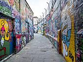 Belgium, Flanders, Ghent, Werregarenstraat, graffitis permitted - AM004689