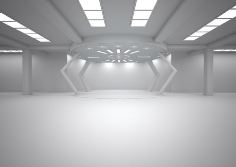 Empty futuristic room, 3D Rendering - ALF000672