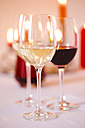 Wine glasses, white and red wine - JTF000733
