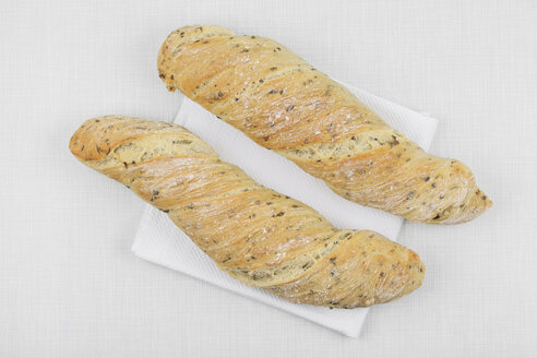 Two homemade ramson baguettes - GWF004580