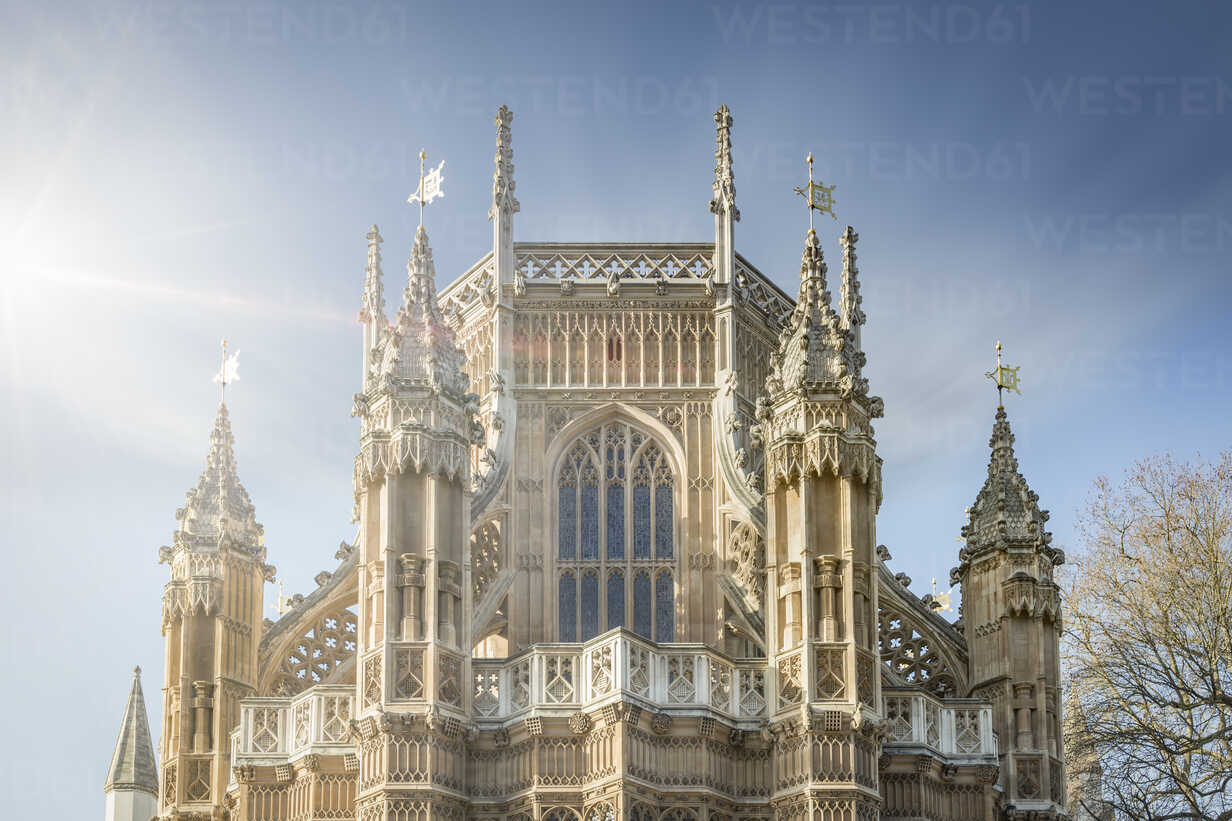 UK, London, back side of Westminster Abbey at sunlight - NKF000439 - Stefan Kunert/Westend61