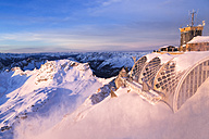Germany, Bavaria, sunrise on Zugspitze, view on Muenchner Haus - STSF001002