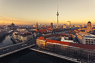 Germany, Berlin, Berlin-Mitte, panorama, cityscape at sunset - ZMF000454