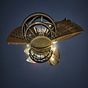 Hamburg, Poggenmuehlenbruecke in the Speicherstadt as a little planet at night - NKF000443